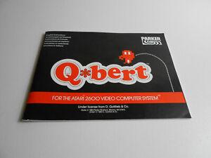 Anleitung zum Atari 2600 Spiel Q Bert