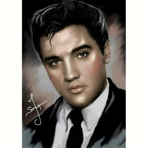 5D Full Drill Diamond Painting Cross Stitch Kits Embroidery Elvis Presley Decors