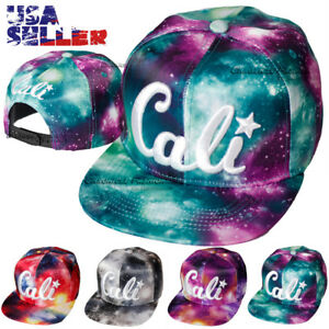 Image is loading Baseball-Cap-Cail-Embroidered-Galaxy-Print-Hip-Hop- 5e238cd23240