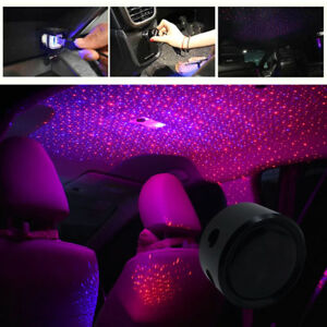 Details about Car Ceiling Star Light LED Atmosphere Projector Armrest Box  Galaxy Lamp Red blue