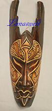-Afrikanische Holz -  Maske  30 cm  - Wandmaske