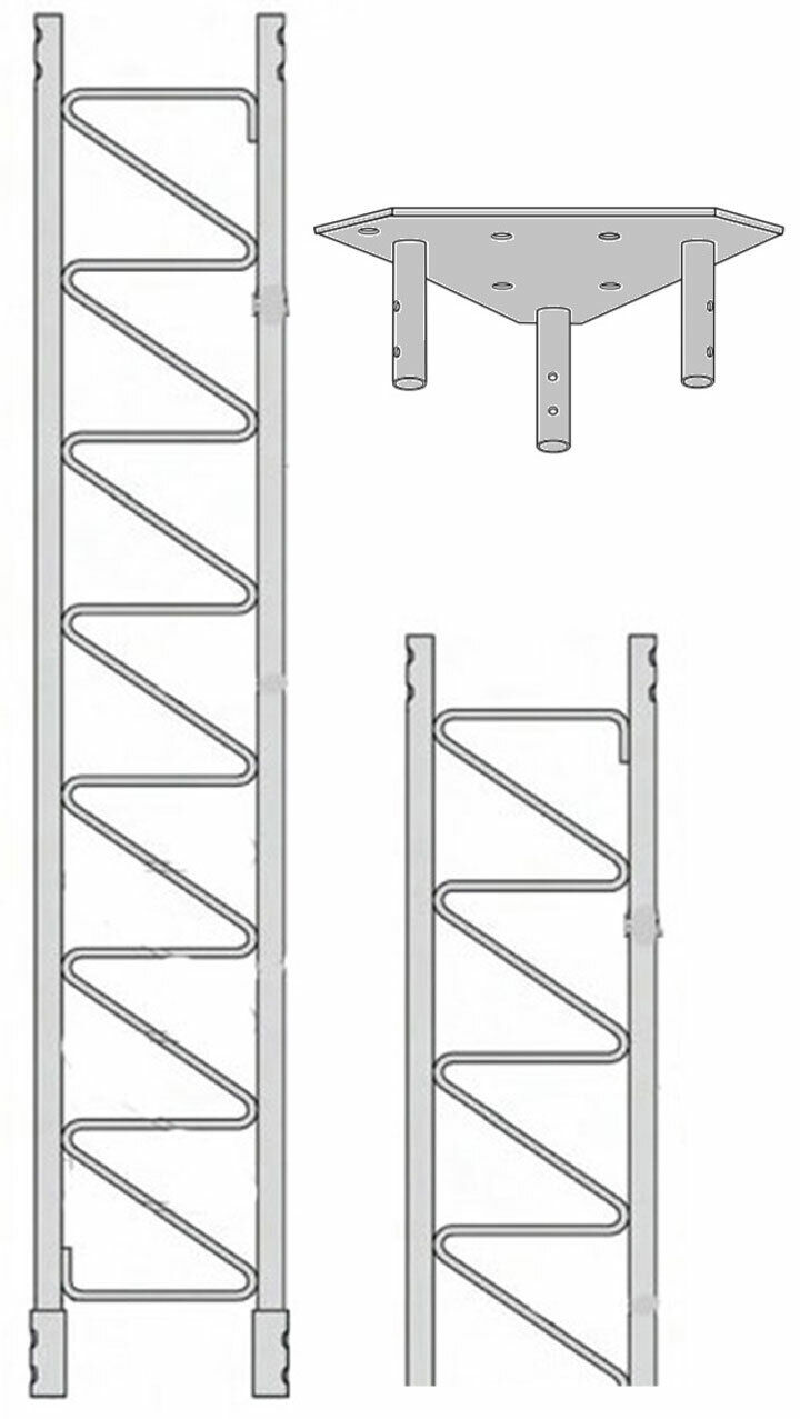 ROHN 55SS010    55G Series 10' Self Supporting Tower Kit . Available Now for 1030.00