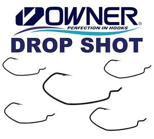 Proprietario-Drop-Shot-Ganci-giu-Shot-Offset-Wide-Gap-pesce-Persico-Pesca-034-esche-morbide-Pike