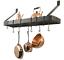 Old-Dutch-Wall-Mount-Pot-Rack-Pan-Holder-Kitchen-Organizer-12-Hooks-Oiled-Bronze thumbnail 1