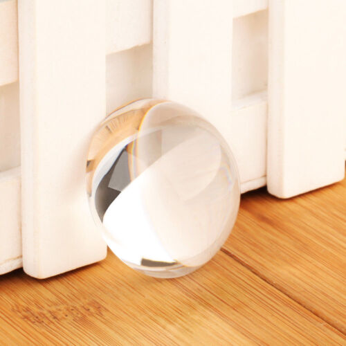 Vintage 40MM Clear Crystal Ball Paperweight Half Sphere MAGNIFYING Glass Decor