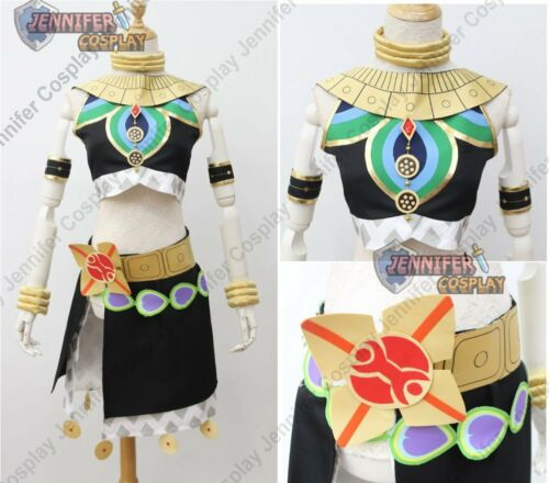 The Legend of Zelda Breath of the Wild Riju Cosplay Costume Black J