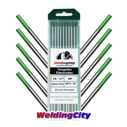 "Green 10-pk TIG Welding Tungsten Electrode Pure 5//32/""x7/""US Seller Fast Ship"