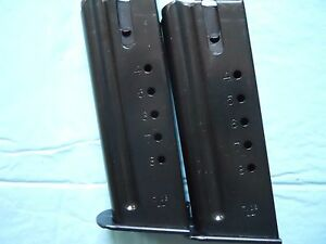 2-TWO-Desert-Eagle-type-Factory-44-Magazines-mags-8-Rds-OEM-Checkmate-mfg