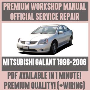workshop manual service repair guide for mitsubishi galant 1996 rh ebay co uk 1999 Mitsubishi Galant 2006 Mitsubishi Galant