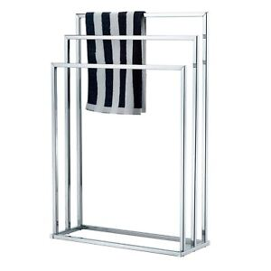 Image Is Loading Towel Holder 3 Tier Floor Standing Chrome Bathroom