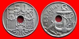 50 Centimos Franco 1963-63 Ebc EspaÑa 3ibki8ys-07234853-349552234