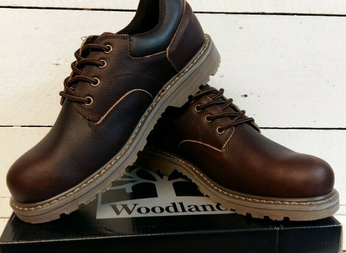 Men's Woodland M877B Hard Wearing Brown Leather Lace Up shoes