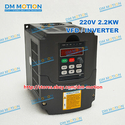 2.2KW Variable Frequency Drive VFD 2.2KW 220V Inverter for  2.2KW spindle