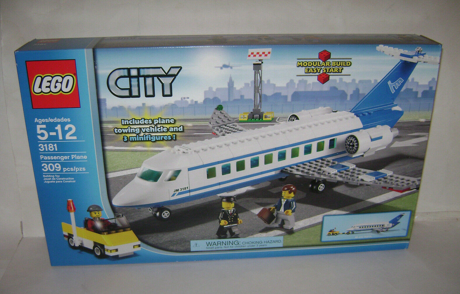 NEW 3181 Lego CITY Passenger Plane Building Toy SEALED BOX RETIrosso RARE A