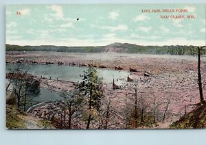 Eau Claire, Wisconsin, Early View of The Log Jam at Dells