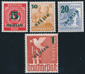 BERLIN-MiNr-64-67-tadellos-postfrisch-gepr-Schlegel-Mi-250
