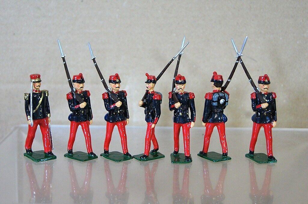 Réplica Modelos Patricio Campbell Crimea Guerra Francés Línea de Infantería X 7