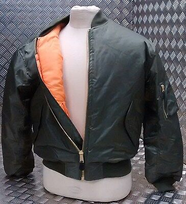 Bello Ma1 Us Stile Militare Bomber Mod/scooter/bikers Tutte Le Taglie E Colori-nuovi-kers All Sizes & Colours - New It-it