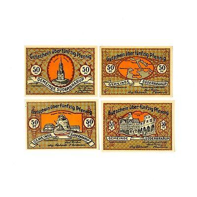 1 Set Of 4 Suderbarup Notgeld 1921 Au