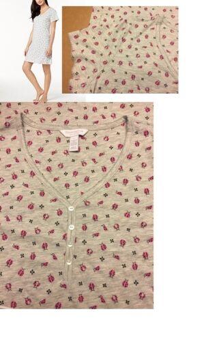 Charter Club Ladybug Love Printed Cotton Sleepshirt M XL