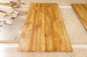 Massivholzplatte Tischplatte Arbeitsplatte Wildeiche Rustikal