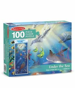 5d0c906713998 Melissa   Doug Under the Sea 100 Piece Puzzle Over 4 feet Tall Brand ...