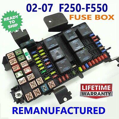 2007 ford f350 super duty fuses box    rebuilt    2002 2007 ford f250 f350 f450 f550 fuse box exchange  2002 2007 ford f250 f350 f450 f550 fuse