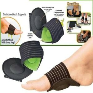 Heel-Foot-Pain-Relief-Plantar-Fasciitis-Insole-Pads-Arch-Support-Shoes-Insert