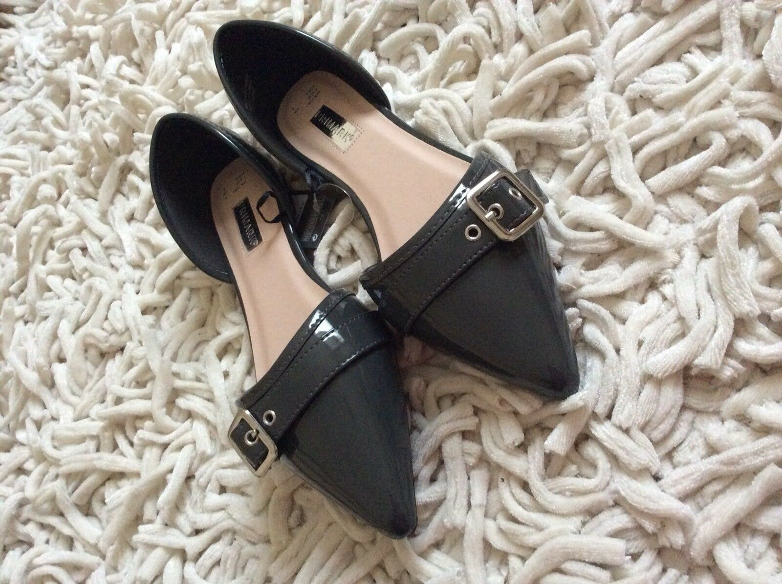 Primark Mules Loafers Flat Shoes Size Uk 8 EUR 42 BNWT!