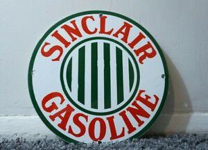 VINTAGE-SINCLAIR-PORCELAIN-SIGN-GAS-MOTOR-OIL-STATION-PUMP-DINO-GASOLINE-AD-PUMP
