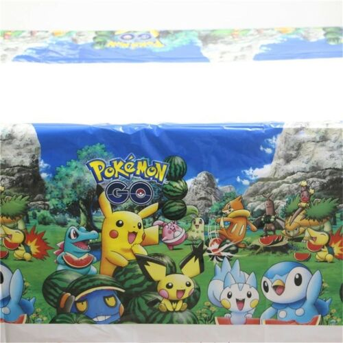Pokemon Go Kids Plastic Table Cover Table Cloth Pikachu Party Decorations