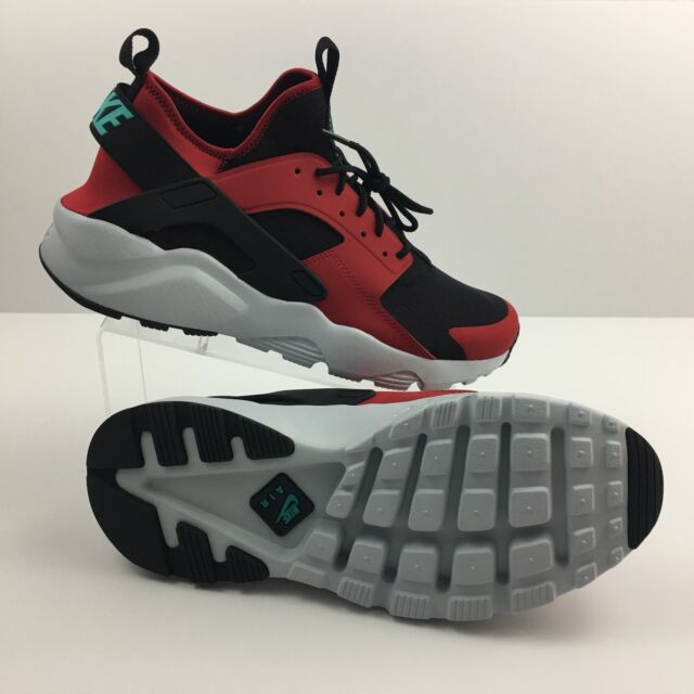 e66833fa1422 Nike AIR HUARACHE RUN ULTRA Red Jade Black Platinum 819685 600 Mens Sz 12  New