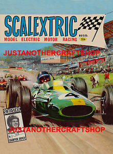 Scalextric-Jim-Clark-1965-Large-A3-Size-Poster-Advert-Shop-Display-Sign-Leaflet