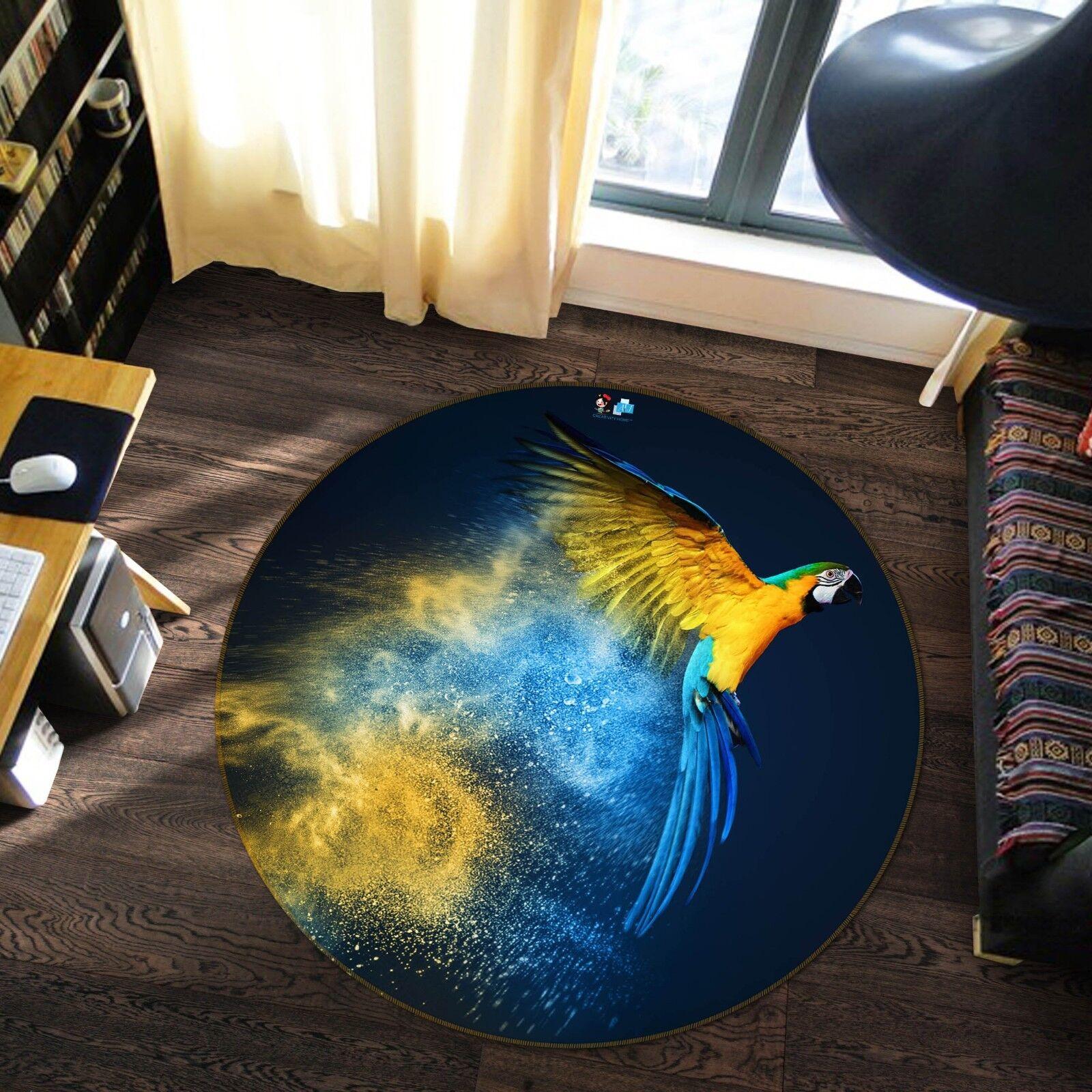 3D Creative Parrosso 537 Non Slip Rug Mat Room Mat Round Elegant Photo Carpet AU