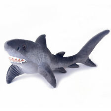 Large Ocean Stuffed Animals Realistic Gray Shark Baby Kids Gifts Doll Toys 23''