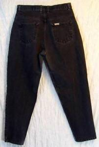 Retro-80s-Faded-Black-FALLS-CREEK-Tapered-RELAXED-High-Waist-COTTON-Jeans-13-14P