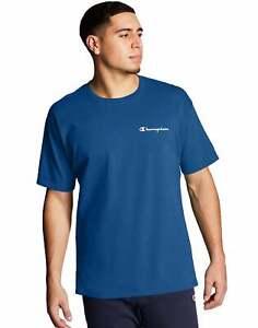 Mens Champion T-Shirt Classic Jersey Tee Script Logo Short Sleeve Classic Cotton