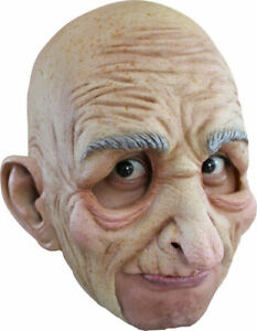 Adult/'s Wrinkly Transparent Old Man Halloween Costume Face Mask Facemask