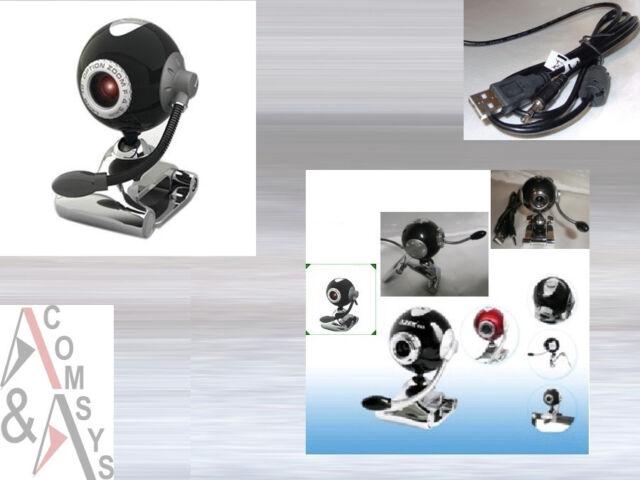 30 MPixel USB Web Cam Camera Webcam Mikrofon Clip PC Laptop Skype MSN Ball Black