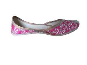 Women-Shoes-Indian-Wedding-Leather-Flip-Flops-Jutties-Flat-UK-3-6-EU-35-5-39