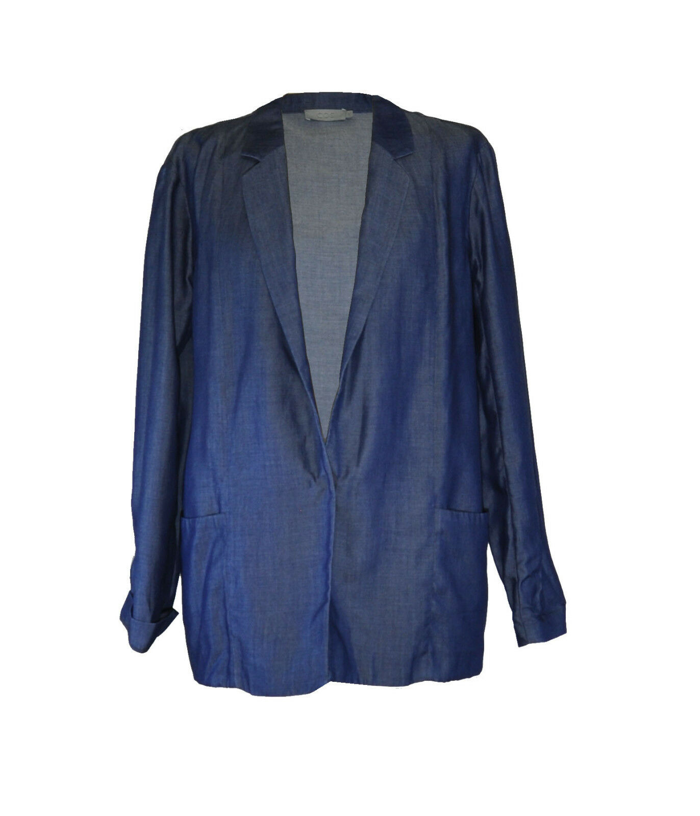 COS  Soft bluee Long Line Blazer  40  Tencell Lyocell
