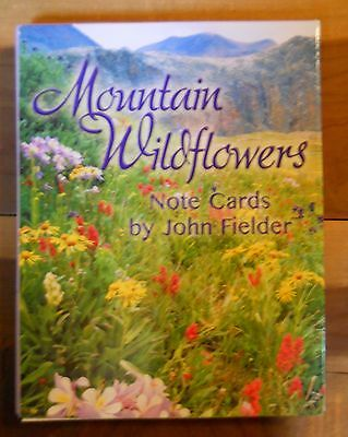 12-Leanin-Tree-Note-Cards-MOUNTAIN-WILDFLOWERS-Flowers-John-Fielder-Full-Color