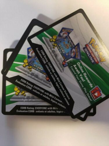 50x Pokemon TCG Online Pack Code Cards Randomize New Mixed Sets