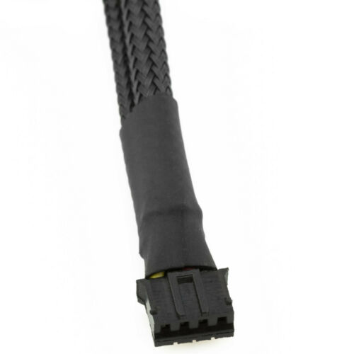 CRJ 4-Pin PWM GPU Dual Fan Splitter Sleeved Adapter Cable For Graphics Cards