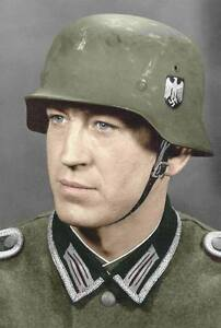 Details about COLOR 8 x 10 WWII Photo German Soldier Portrait World War Two  WW2 / 2093