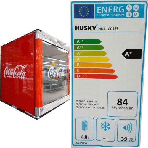 HUSKY Kühlschrank Coca Cola Design HUS-CC165 Cool ICE CUBE Mini Bar Kühl EEK A+