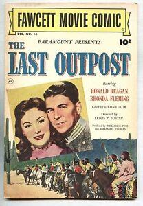 Fawcett Movie Comic #14-1951 fn/vf Ronald Reagan The Last Outpost ...