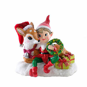 Katherines-Collection-Elf-Reindeer-Santa-039-s-Workshop-Retro-Vntg-Christmas-Decor