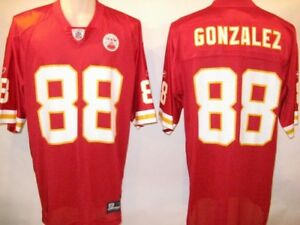 Details about Tony Gonzalez Kansas City Chiefs Red 4XL 2008 Reebok Replica Jersey