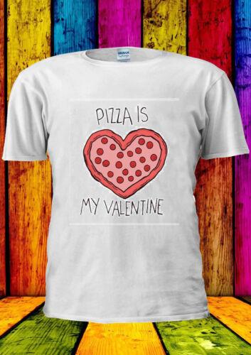 Pizza Is My Valentine Heart Tumblr T-shirt Vest Tank Top Men Women Unisex 1739